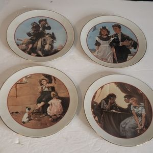 Norman Rockwell Collector's Plates x4
